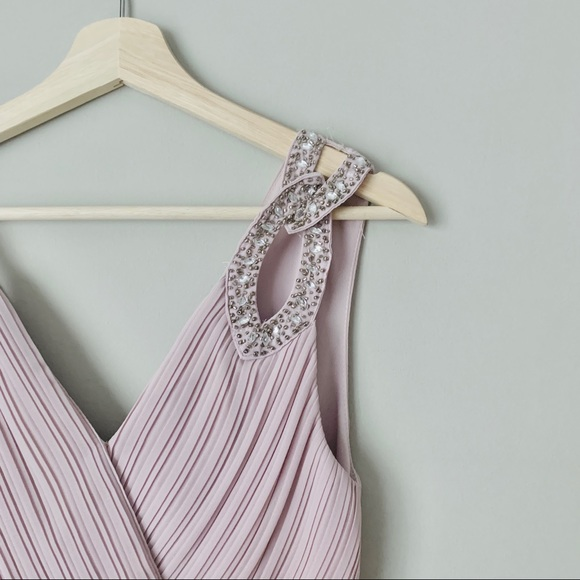 {ASOS} Wrap Front Maxi Dress with Embellishment